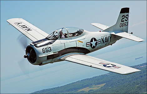 Flight of the Airfield T-28 Trojan
