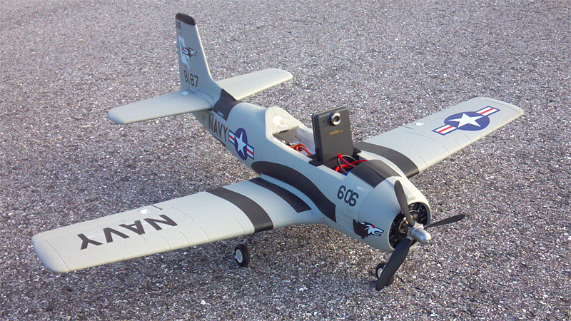 Aerial Video on my RC Plane (T-28 Trojan)