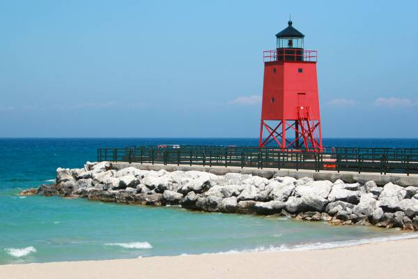 Charlevoix Red Lighthouse